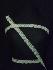 Ivory Cotton Crochet Design Trim
