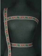 Black With Red/Green Paisley Print Trim
