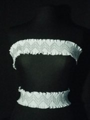 White Cotton Zig-Zag Stretchy Trim