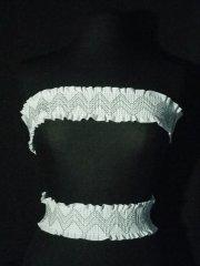 White Cotton Zig-Zag Stretchy Trim