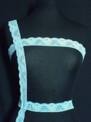 Light Blue Floral Lace Trim