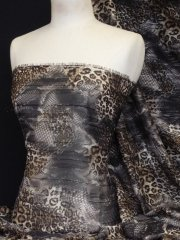 Chiffon Soft Touch Sheer Subtle Shimmer - Brown Leopard Q1166 BR