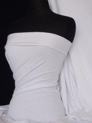 Sweatshirt Fleece Backed Cotton Super Soft Fabric- White Q237 WHT