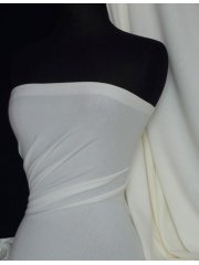 Ponte Double Knit 4 Way Stretch Jersey Fabric- Ivory Q37 IV