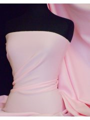 Scuba Stretch Poly Lycra Fabric- Baby Pink Q792 BPN