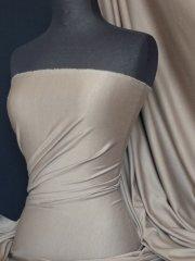 Ponte Double Knit Stretch Jersey Fabric- Mocha Q37 MCH