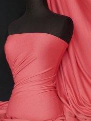 Ponte Double Knit 4 Way Stretch Jersey Fabric- Coral Q37 CRL