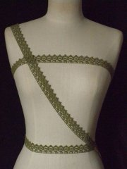 Olive Green Cotton Crochet Trim