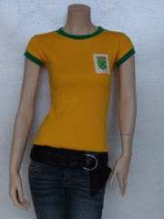 100% Cotton Brazil Football T-Shirt