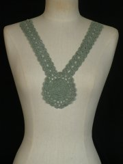 Cotton Crochet Neck Piece- Sage Green EM355 SGR