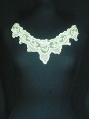 Pastel Yellow Sequin Net Neck Piece