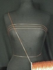 Copper Shiny Stretchy String