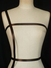 Dark Brown Satin Ribbon Trim