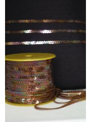 3 Metres Sequin String Trimming- Copper SY61 COP