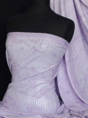 Embossed 4 Way Stretch Lycra Fabric- Lilac Snake Q984 LLC