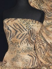 Sheer Subtle Shimmer Fabric- Gold Animal Q1229 GLD