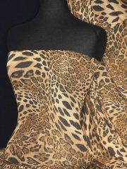 Leopard Sheer Gold Subtle Shimmer Fabric