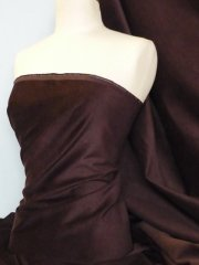 Cotton Velvet/ Velour Stretch Fabric- Brown Q996 BRN