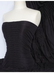 Ruched Stretch Fabric- Black Q803 BK
