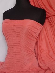 Ruched 4 Way Stretch Fabric- Coral Q803 CRL