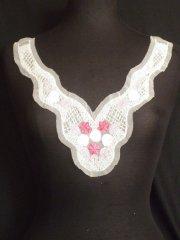 Pink/White Sequin Rose Net Neck Piece