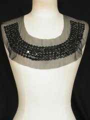 Black Beaded Net Neck Piece