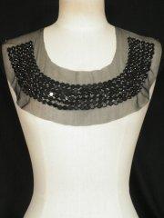 Black Beaded Net Neck Piece