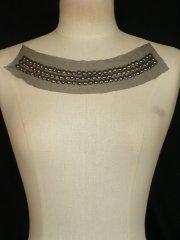 Black/ Grey Beaded Net Neck Piece