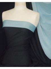 Paris Mesh Non-Lycra 4 Way Stretch Light Jersey Fabric- Navy/ Sky Blue Q1295 NYSKBL