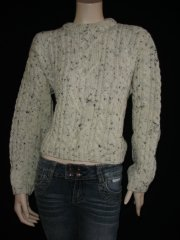 WOMEN'S Cream 100% Pure Wool Jumper