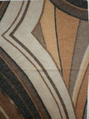Sheer Abstract Thick & Thin Stretch Fabric- Brown Q1080 BRN