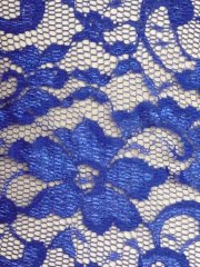 Without Scalloped Edge Stretch Lace Lycra Fabric- Royal Blue Q1307 RBL
