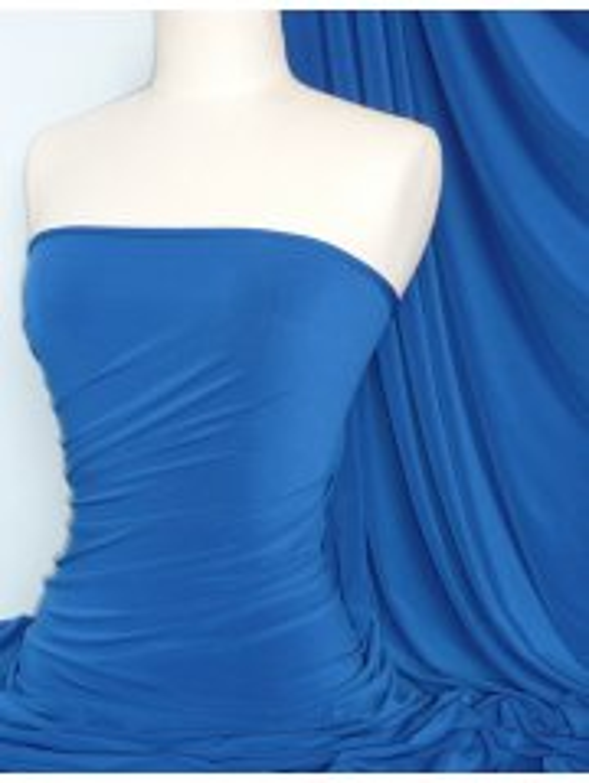 Soft Touch 4 Way Stretch Lycra Fabric- Royal Blue Q36 RBL