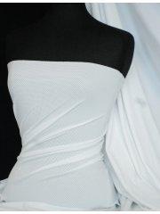 Lycra Airtex Mesh 4 Way Stretch Sportswear Fabric By The Metre- White Q1334 WHT