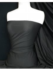 Clearance Lycra Airtex Mesh 4 Way Stretch Sportswear Fabric By The Metre- Black Q1334 BLK