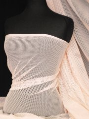 Fishnet 4 Way Stretch Fabric Material- Pastel Peach Q1335 PPCH