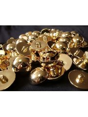 10x Blazer Coat Buttons Golden Domed Shank On Back 25mm- Gold