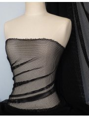 Black Fishnet Stretch Material (6mm hole)