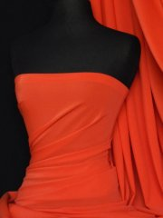 Matt Lycra 4 Way Stretch Fabric- Orange Q56 OR