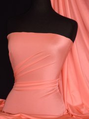 Shiny Lycra 4 Way Stretch Material- Salmon Pink Q54 SPN