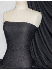 Black Denim Look Premium Quality Stretch Fabric