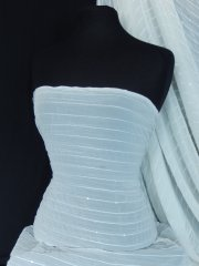 Crinkle Chiffon Sequin Sheer Fabric- Ivory Cream SQ28 IVCRM