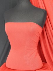 Polyester Light Weight Stretch Lurex Fabric- Red SQ29 RD