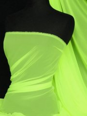 Chiffon Soft Touch Sheer Fabric Material- Neon Yellow Q354 NYLGR