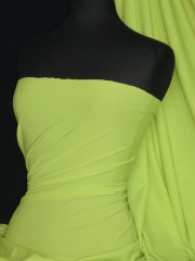Matt Lycra 4 Way Stretch Fabric- Lime Green Q56 LMGR