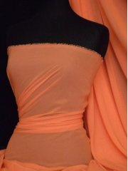Chiffon Soft Touch Sheer Fabric Material- Orange Q354 OR