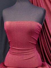 Polyester Shimmer 4 Way Stretch Fabric- Burgundy/ Gold SQ40 BURG