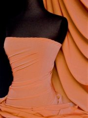 Shimmer Sheer Stretch Material- Caribbean Orange Q1302 CBN