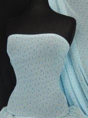 Helenka Mesh Ditsy Floral Stretch Fabric- Sky Blue SQ44 SKBL