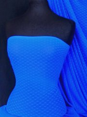 Helenka Mesh Diamond Embossed Sheer Stretch Material- Royal Blue SQ47 RBL